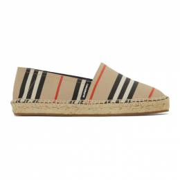 Burberry Beige Icon Stripe Alport Espadrilles 8024957