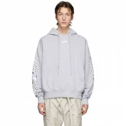 Off-White Grey Airport Tape Hoodie OMBB037S20E300030788