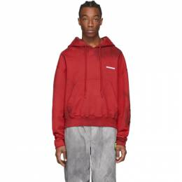 Off-White Red Tie-Dye Contour Hoodie OMBB060S20E300202000