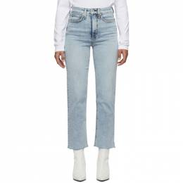 Rag&Bone Blue Jane Super High-Rise Ankle Cigarette Jeans WDD19H2710K5DK-420