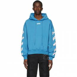 Off-White Blue Airport Tape Hoodie OMBB037S20E300033088