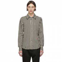 Ami Alexandre Mattiussi Black and Off-White Striped Shirt P20HC005.410