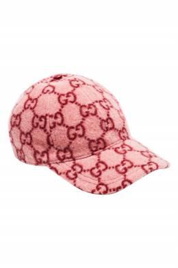 Розовая бейсболка с узором из монограмм Gucci 470187244