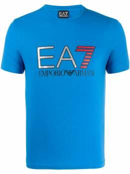 Ea7 футболка с круглым вырезом и логотипом 3HPT05PJ03Z