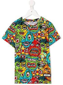 Moschino Kids TEEN all-over print T-shirt HOM02QLBB32