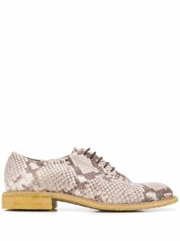 Del Carlo туфли на шнуровке с тиснением под кожу питона 10900
