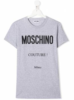 Moschino Kids футболка с круглым вырезом и логотипом H9M024LBA10