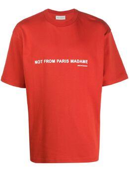 Drole De Monsieur футболка с круглым вырезом и логотипом SS20TS023