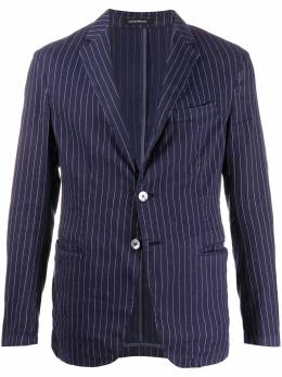 Emporio Armani однобортный пиджак в полоску 51G28T51S56