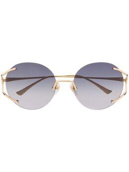 Gucci Eyewear солнцезащитные очки в круглой оправе GG0645S001