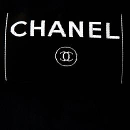 Chanel Midnight Blue Lurex Textured Knit Jacket M 271239