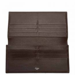 Cartier Brown Leather Long Wallet 269832