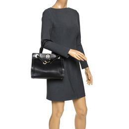 Aigner Black Leather Cavallina Top Handle Bag 270925