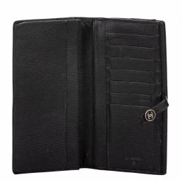 Chanel Black Leather Long Wallet 267205