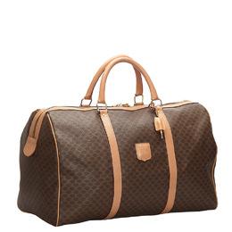 Celine Brown Macadam Canvas Travel Bag 267350