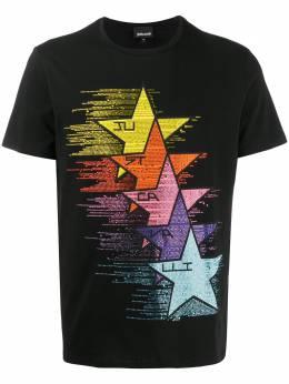 Just Cavalli футболка со стразами S03GC0582N20663
