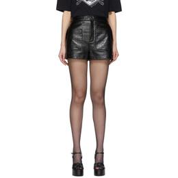 Saint Laurent Black Coated Shorts 600756 Y955J
