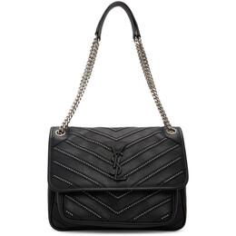 Saint Laurent Black Medium Micro Studs Niki Bag 498894 0JJM6