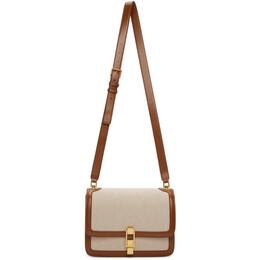 Saint Laurent Brown Canvas Carre Bag 585060 HZD2J