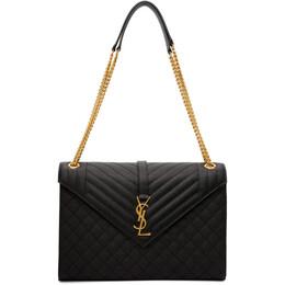 Saint Laurent Black Large Envelope Bag 600166 BOW91