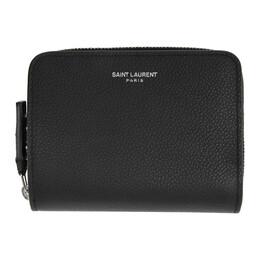 Saint Laurent Black Rive Gauche Compact Zip Around Wallet 603081 B680N
