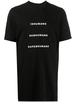 Rick Owens DRKSHDW футболка с принтом Humano DU20S5250RN