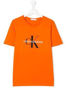 Calvin Klein Kids футболка с круглым вырезом и логотипом IU0IU00068