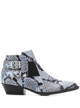 Pollini ботинки с тиснением под змеиную кожу SA21093C1ATK0
