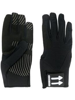 Off-White перчатки с нашивкой-логотипом OMNE018R20G950011000