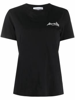 Moschino футболка с круглым вырезом и логотипом A07080440