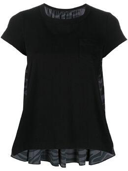 Sacai футболка с камуфляжным принтом 2004924