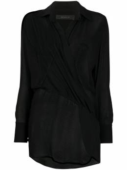 Federica Tosi блузка с длинными рукавами и запахом FTE20BL0040GG0018