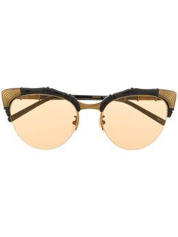 Gucci Eyewear солнцезащитные очки в овальной оправе GG0661S002