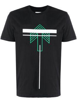 Les Hommes Urban футболка с графичным принтом UIT206700P