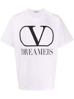Valentino футболка с принтом VLogo Dreamers TV0MG06B681