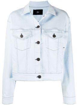 3x1 джинсовая куртка с эффектом потертости WJOB10952