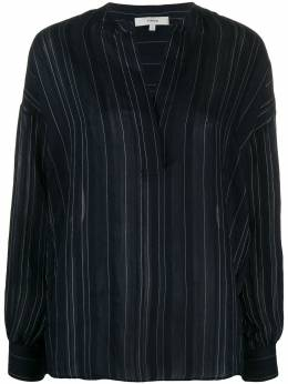 Vince полосатая блузка с V-образным вырезом V649211635