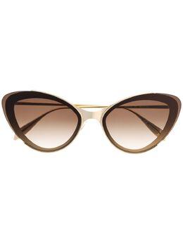 Alexander McQueen Eyewear очки в оправе 'кошачий глаз' 611140I3330