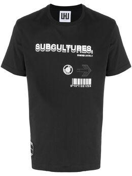 Les Hommes Urban футболка с графичным принтом UIT207700P