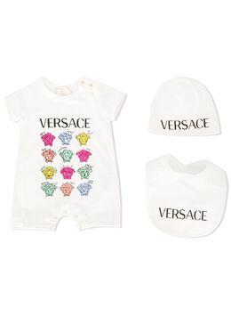 Young Versace комплект с боди, шапкой и нагрудником YE000153YA00019