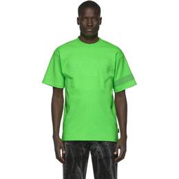 GCDS Green Fluo Logo T-Shirt CC94M021007