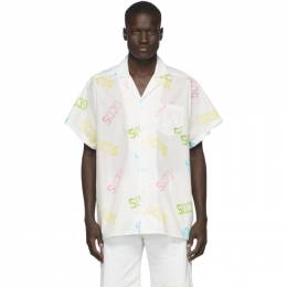 GCDS White Monogram Shirt SS20M020027