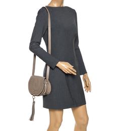 Chloe Beige Leather Mini Marcie Crossbody Bag