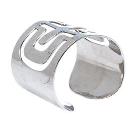Bvlgari Parentesi Cutwork Sterling Silver Open Cuff Bracelet