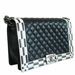 Chanel Black Quilted Leather Large Chanel Boy Bag