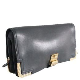 Bottega Veneta Black Leather Clutch 189172