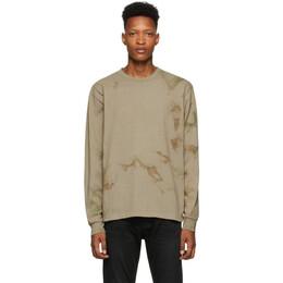John Elliott Khaki University Long Sleeve T-Shirt A189M09480A