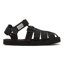 Suicoke Black SHACO Sandals OG-032 / SHACO