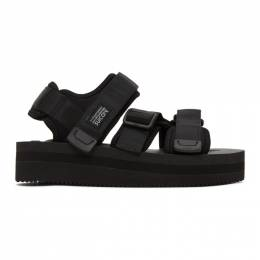 Suicoke Black Kisee-VPO Sandals OG-044VPO/KISEE-VPO