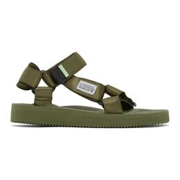 Suicoke Green DEPA-CAB Sandals OG-022Cab / DEPA-Cab